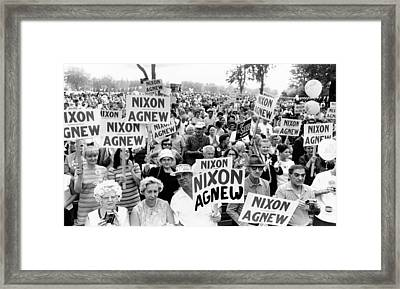 Cleveland Supporters Of The Nixon-agnew Framed Print by Everett