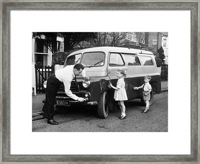 Clever Dad Framed Print by John Drysdale
