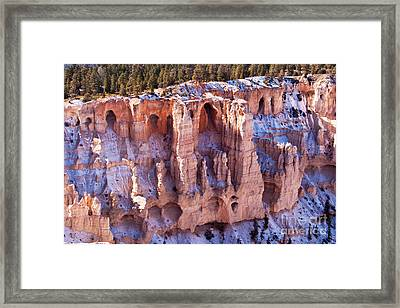 Cliff Condos Framed Print by Bob and Nancy Kendrick