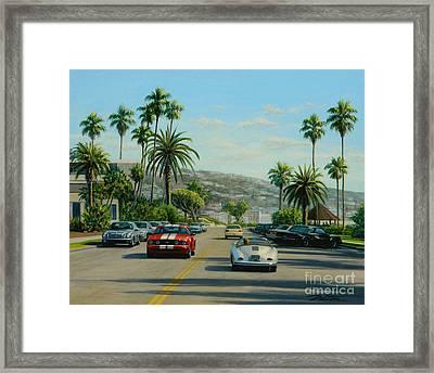 Cliff Drive Laguna Framed Print by Frank Dalton
