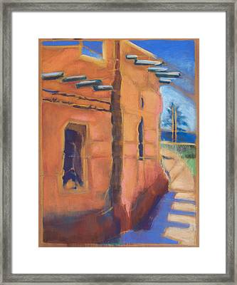 Cliff Dwelling Los Alamos New Mexico Framed Print