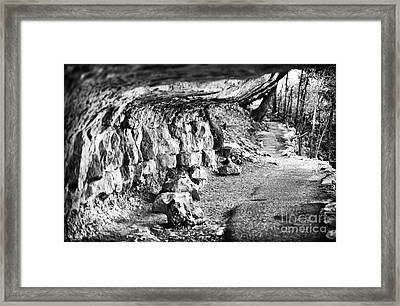 Cliff Dwellings Framed Print by John Rizzuto