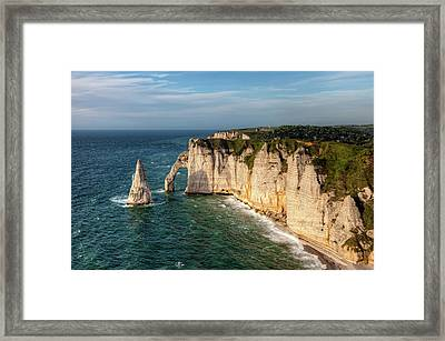 Cliff needle In Etretat, France Framed Print by Rogdy Espinoza Photography