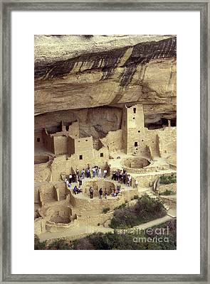 Cliff Palace Kiva Mesa Verde Framed Print by John  Mitchell
