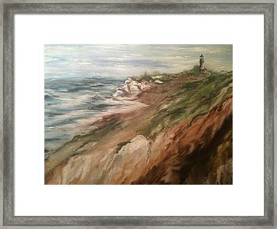 Cliff Side - Newport Framed Print