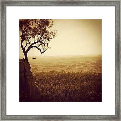 Cliff Swing Framed Print