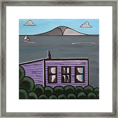 Cliff Top Framed Print by Sandra Marie Adams
