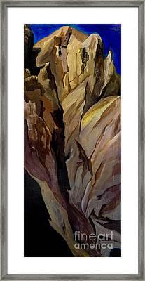 Cliff Tunnel Framed Print