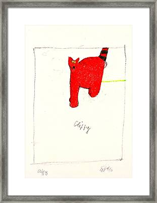 Clifford The Dog Its Not But Cliffy The Cat It Is Framed Print by Cliff Spohn