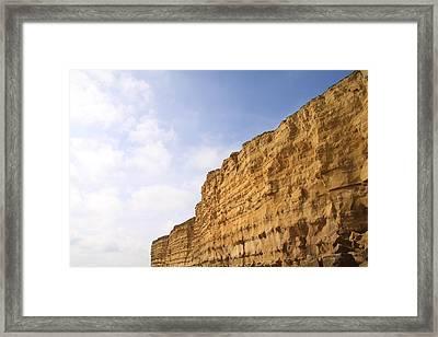 Cliffs At Burton Bradstock, Dorset Framed Print