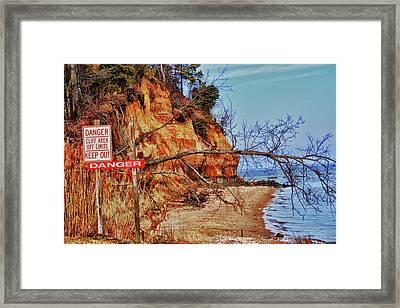 Framed Print featuring the photograph Cliffs by Kelly Reber