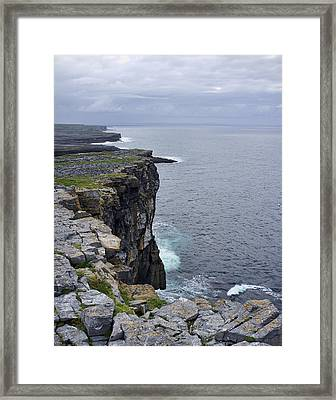 Framed Print featuring the photograph Cliffs Of Inishmore by Hugh Smith