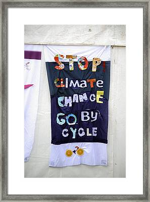 Climate Change Awareness Framed Print by Victor De Schwanberg