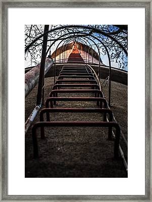 Framed Print featuring the photograph Climb Away by Matti Ollikainen