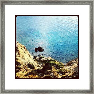 Climb Down To Secret Beach (not So Framed Print