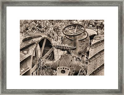 Climb On Up Bw Framed Print by JC Findley