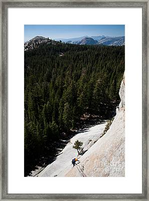 Climber In Yosemite Framed Print