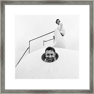 Climbing Frame Framed Print by Ecell
