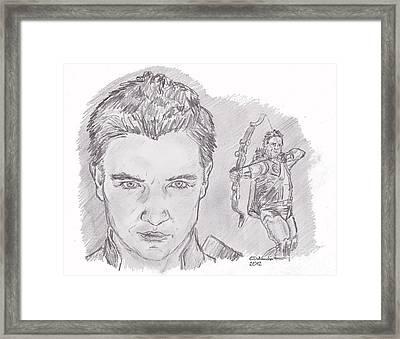 Clint Barton- Hawkeye Framed Print by Chris  DelVecchio
