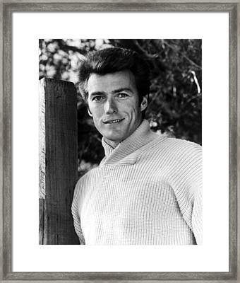 Clint Eastwood, 1962 Framed Print by Everett