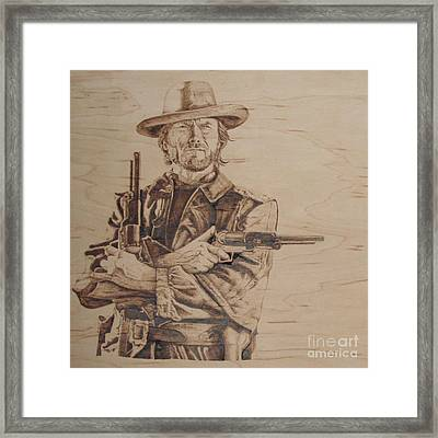 Clint Eastwood Framed Print by Chris Wulff