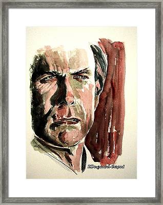 Clint Eastwood Framed Print by Francoise Dugourd-Caput
