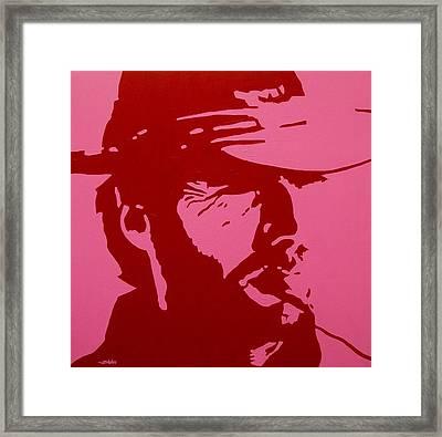Clint Framed Print by John  Nolan