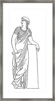 Clio, Muse Of History Framed Print by Granger