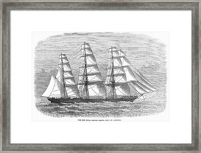 Clipper Ship, 1869 Framed Print by Granger