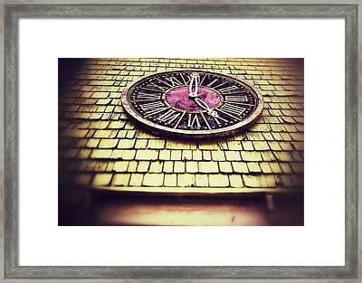 Clock 5 Framed Print by Olivier Calas