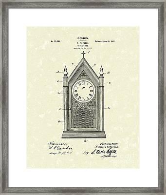 Clock Case Design 1902 Patent Art Framed Print by Prior Art Design