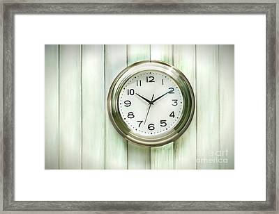 Clock On The Wall Framed Print
