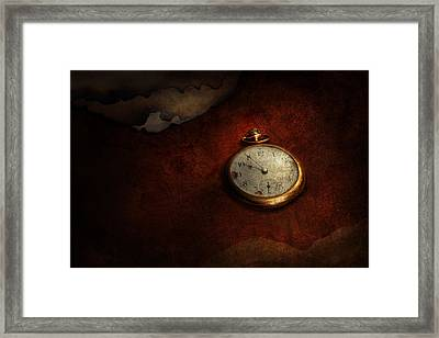 Clock - Time Waits For Nothing  Framed Print by Mike Savad
