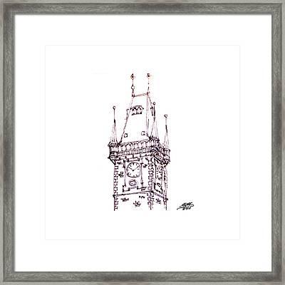 Clock Tower Framed Print by Steve Huang