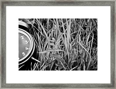 Clocks Away Framed Print