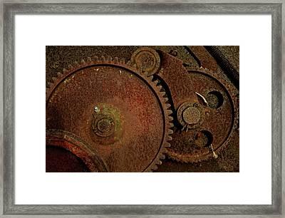 Clockwork Rust Framed Print by Odd Jeppesen