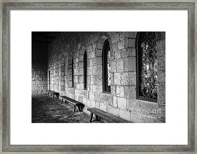 Cloisters Framed Print by Maria Scarfone