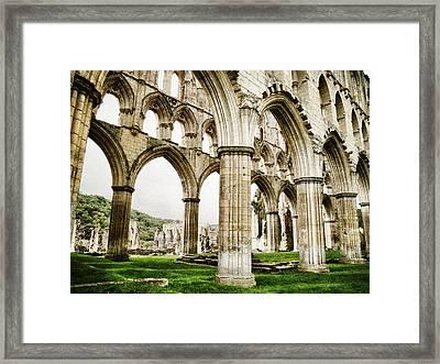Cloisters Of Rievaulx Abbey Framed Print by Sarah Couzens