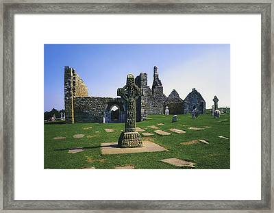 Clonmacnoise, Co Offaly, Ireland, West Framed Print by The Irish Image Collection