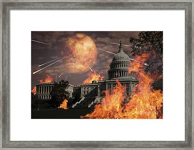 Close Approach Of Nibiru, Planet X Framed Print by Ron Miller