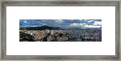 Close Of Business - Quito - Ecuador Framed Print