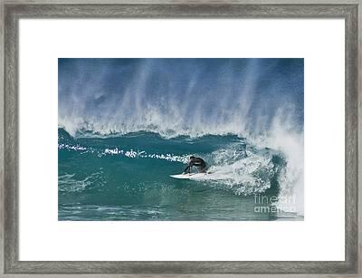 Close Out - Maroubra Beach - Sydney - Australia Framed Print by Bryan Freeman