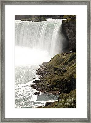 Close To The Falls Framed Print by Amanda Barcon
