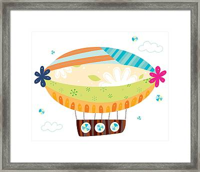 Close-up Of Airship Framed Print by Eastnine Inc.