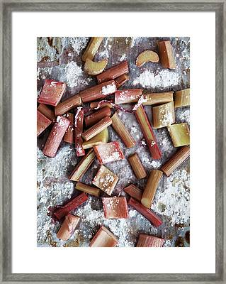 Close Up Of Baked Rhubarb Framed Print by Cultura/Line Klein