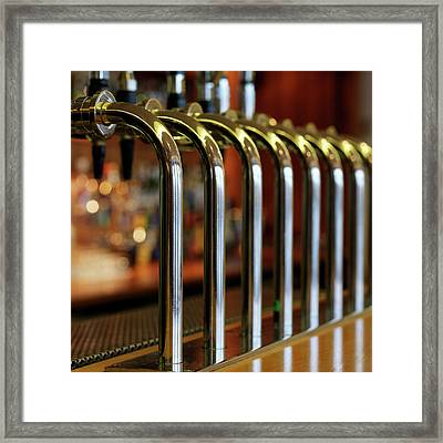 Close-up Of Bar Taps Framed Print by Stockbyte