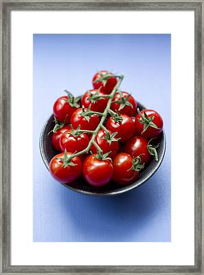 Close Up Of Bowl Of Cherry Tomatoes Framed Print by Brigitte Sporrer