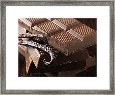 Close Up Of Chocolate And Vanilla Bean Framed Print by Cultura/Diana Miller