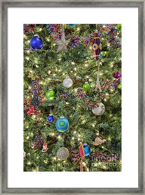 Close-up Of Christmas Tree Framed Print by Jeremy Woodhouse