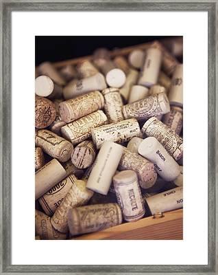 Close-up Of Corks Framed Print